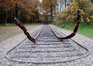 Abfahrtsrampe im Durchgangslager Westerbork